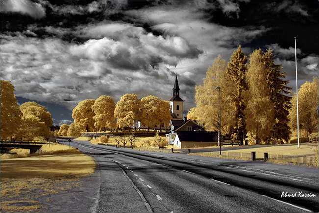 Church scene in infrared by Ahmed Kassim ©