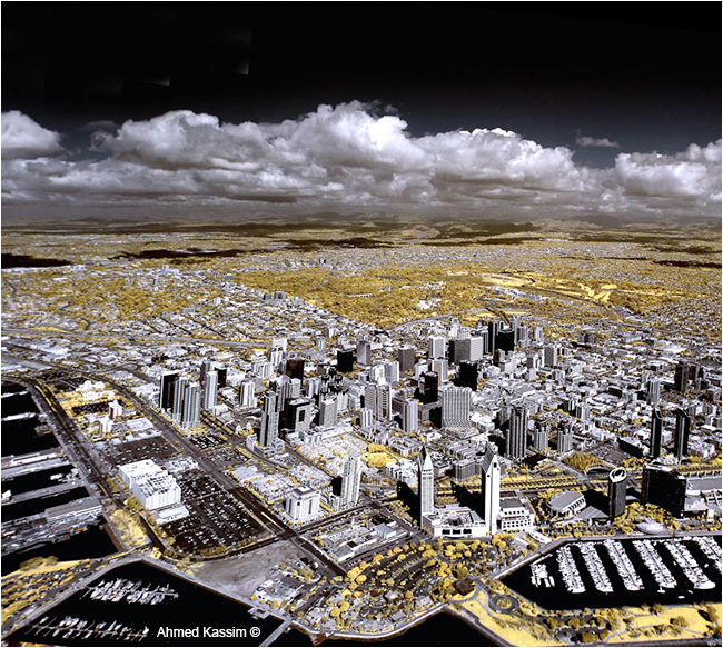 San Diego infrared photograph from the air by Ahmed Kassim ©