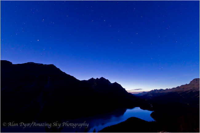 Big Dipper over Peyto Lake by Alan Dyer ©