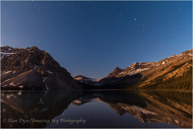 Bow Lake by Moonlight by Alan Dyer ©