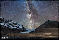 Milky way over Athabasca Glacier by Alan Dyer ©
