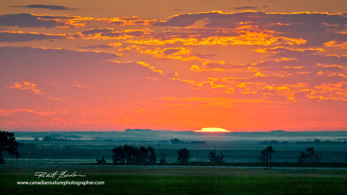 Sunrise over the prairies east of Airdrie by Robert Berdan ©