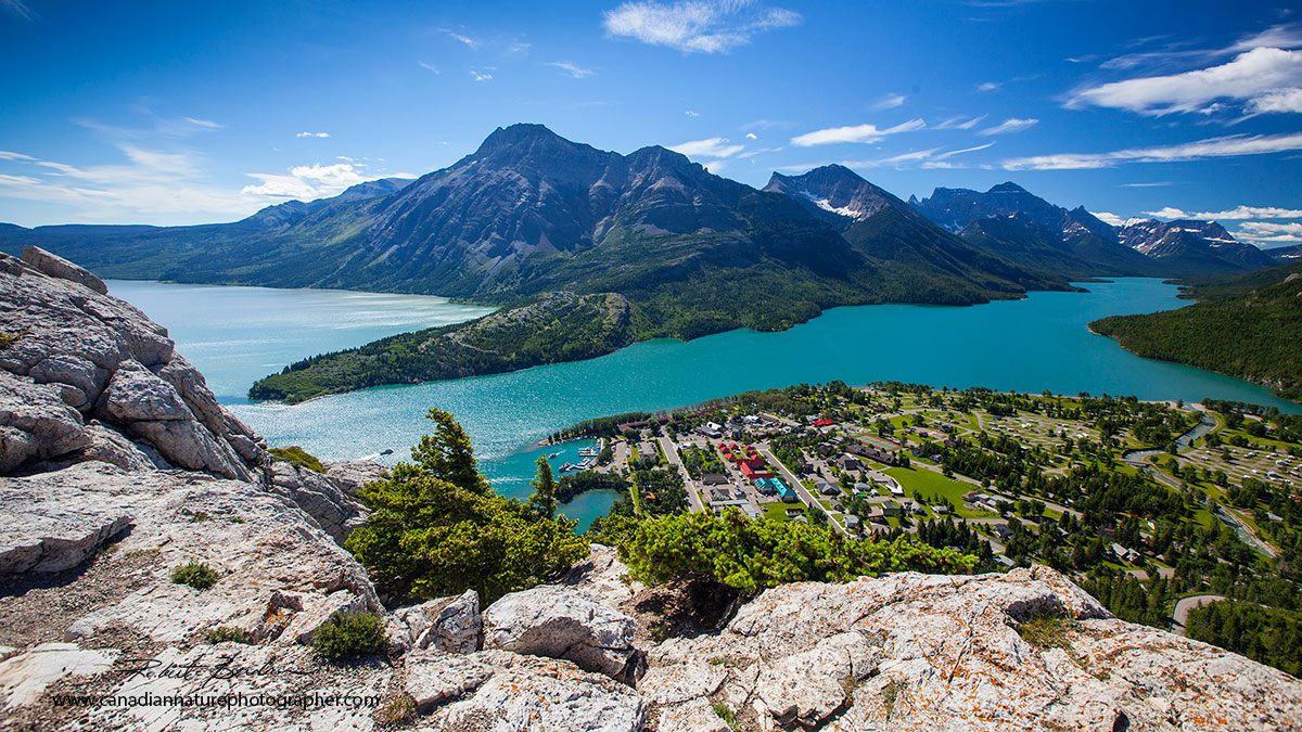 View from the Bears hump a short steep hike in Waterton National Park Robert Berdan ©