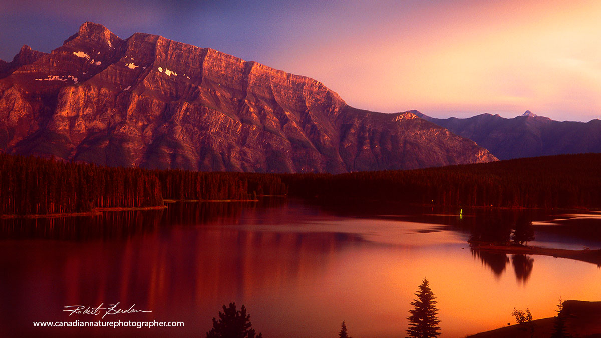 Mount Rundle and Two Jack Lake in the early evening in Banff National Park Robert Berdan ©