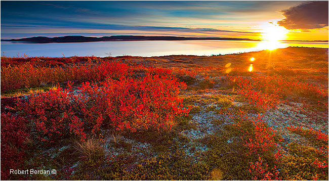 Sunrise at Point Lake by Robert Berdan ©