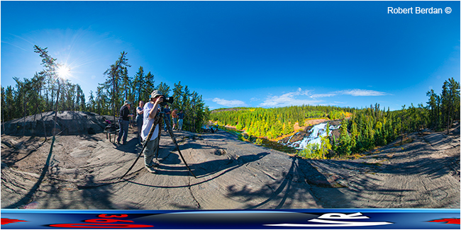Cameron falls near Yellowknife off the Ingraham trail panorama by Robert Berdan ©