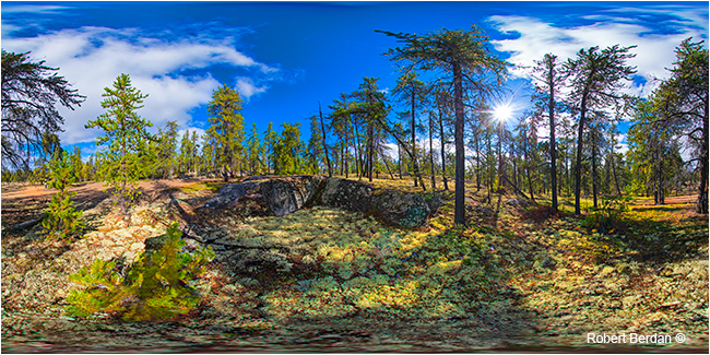 Prelude hiking trail panorama by Robert Berdan ©