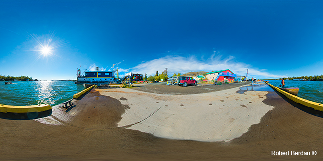 Panorama of Yellowknife Dock by Robert Berdan ©