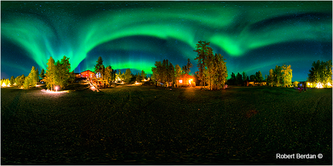 Aurora village near Yelloknife panorama by Robert Berdan ©