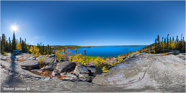 Lookout at Prelude Park near Yellowknife, NT by Robert Berdan ©