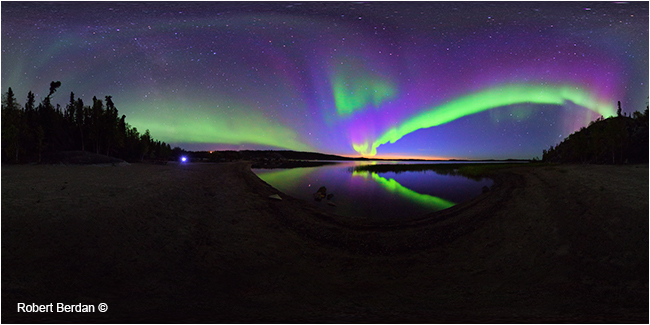 Aurora 360 panorama from Prelude Lake by Robert Berdan ©