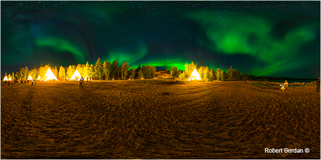 Aurora village interactive panorama by Robert Berdan ©