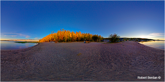 Prelude Lake Beach after sunset VR movie by Robert Berdan ©
