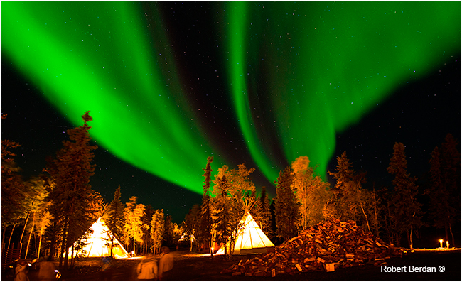 Aurora village near Yellowknife by Robert Berdan ©