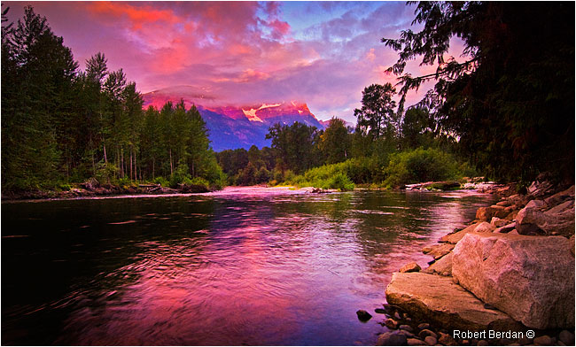 Sunrise at the Atnarko River in the Bella Coola valley by Robert Berdan ©