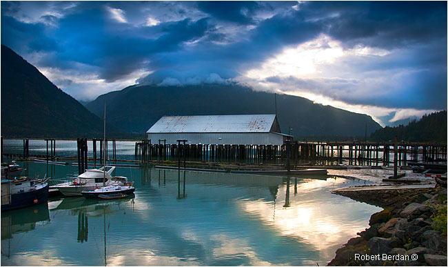 Looking toward Bella Coola from the marina by Robert Berdan ©