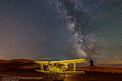 Night Sky with crop duster by Bhaskar Bowmik ©