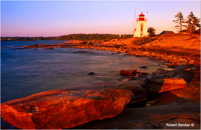 Brebeuf lighthouse, Georgian Bay, Ontario by Robert Berdan ©