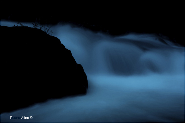3 am Insomnia - waterfalls by Duane Allen ©