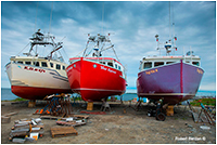 Boats being repaired Nova Scotia by Robert Berdan ©