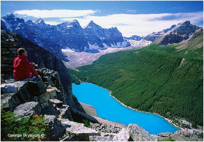 Moraine Lake view from Tpwer pf Babe; bu George Brybycin ©
