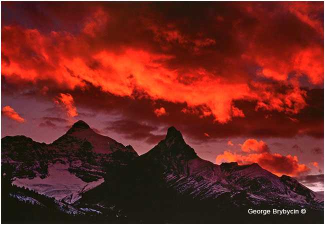Glorious sky above Mt. Athabasca by George Brybycin ©