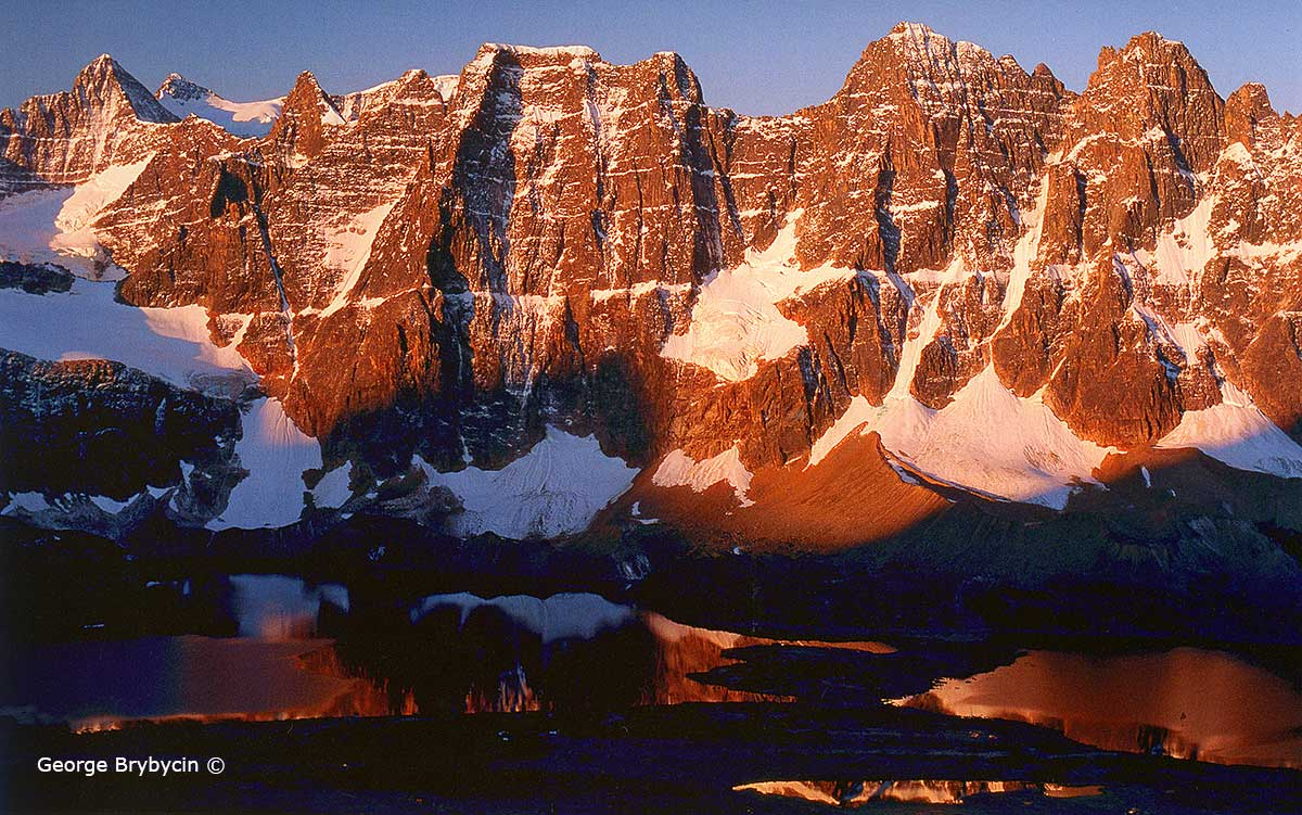 he Ramparts on the southwest side of Amethyst lake by George Brybycin ©