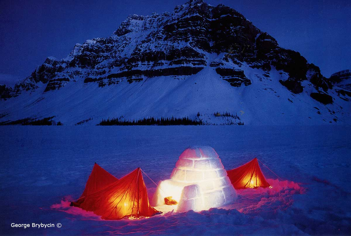 Winter camping on Bow lake by George Brybycin ©