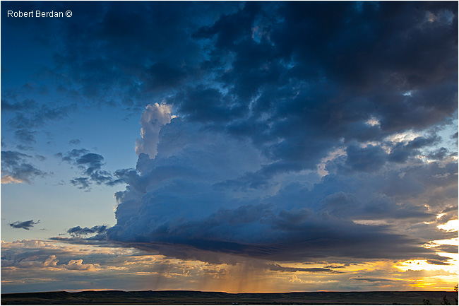 Thunderstorm over Grasslands National Park by Robert Berdan