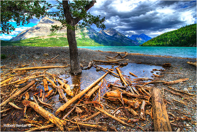 Waterton single tone mapped photo realistic effect by Robert Berdan ©
