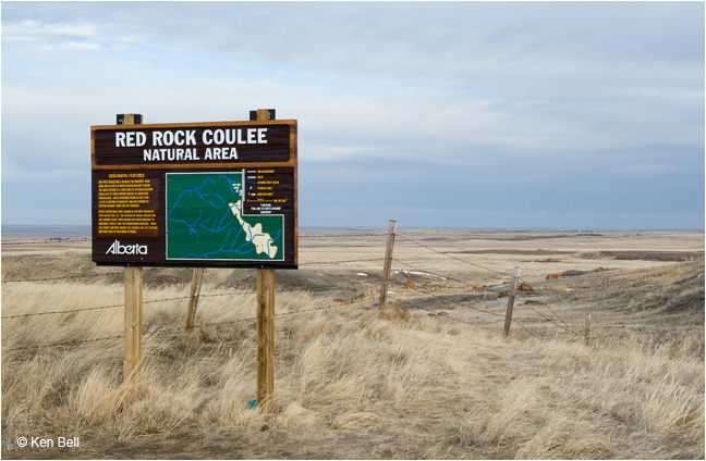 Sign Red Rock Coulee Natural Area by Ken Bell ©
