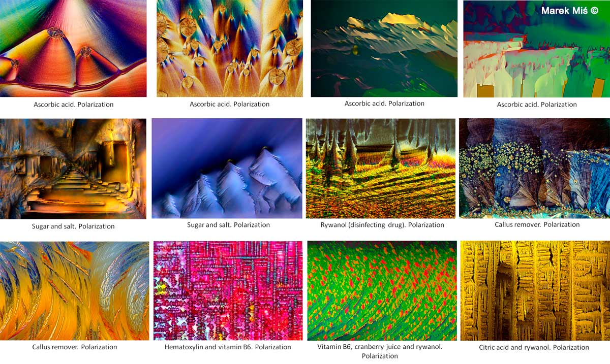 Polarized light micrographs by Marek Mis ©
