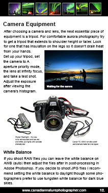 Photo Equipment and Camera for photographing the Aurora by Robert Berdan