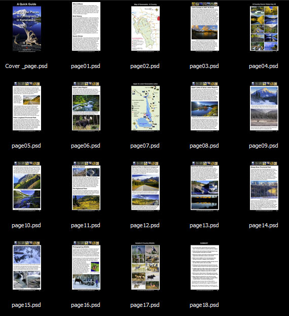 Thumbnail pictures of Kananaskis in the Quick Guide to How to Photography Kananaskis by Robert Berdan