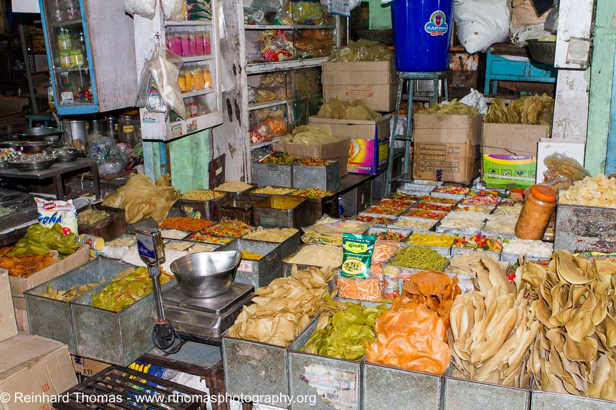Food store in local market  India by Reinhard Thomas ©