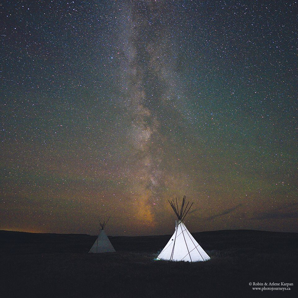Tipi and Milky Way by Robin and Arlene Karpan ©