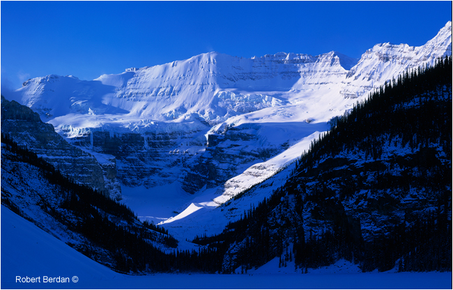 Lake Louise in winter by Robert Berdan