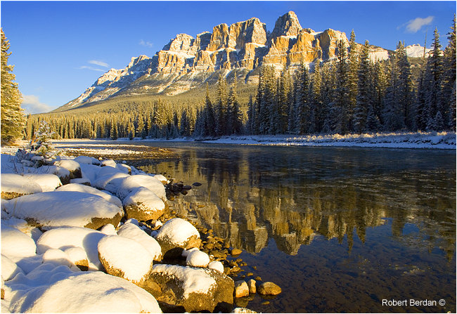 Castle Mountain Banff National park by Robert Berdan ©