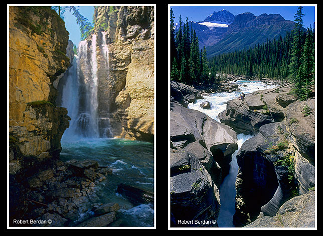 Johnston canyon waterfalls and Mistay canyon waterfalls by Robert Berdan ©