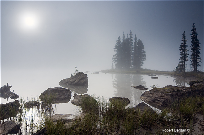 Spirit Island at sunrise, Jasper National Park by Robert Berdan ©