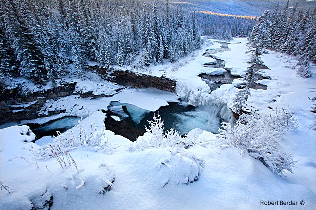 Sheep River Falls in November by Robert Berdan ©