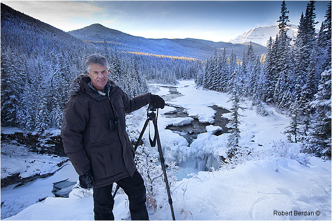 Dr. Wayne Lynch at Sheep River Falls by Robert Berdan ©