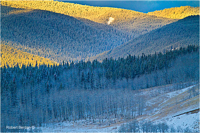 Sunrise on foothills Sheep River Sanctuary by Robert Berdan ©