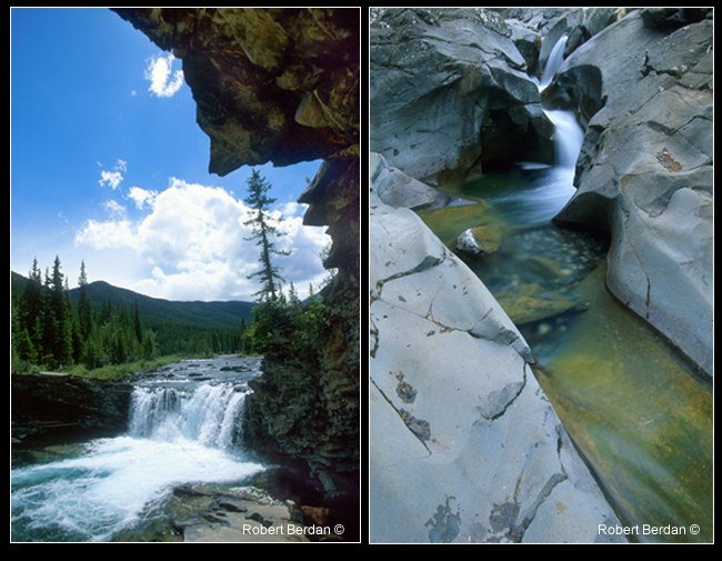 Sheep river Falls and Blue Rock Canyone in summer by Robert Berdan ©
