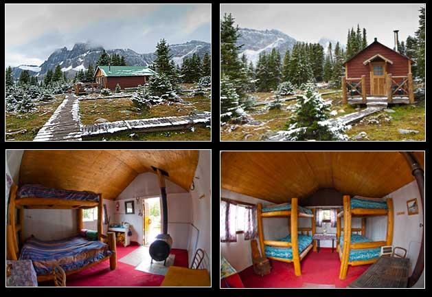 Tonquin Valley lodge cabins outside and inside views by Robert Berdan ©