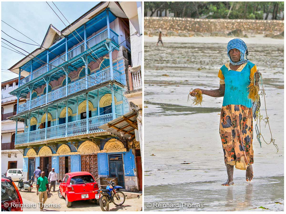 House Stone Town and Woman with Seaweed by Reinhard Thomas ©