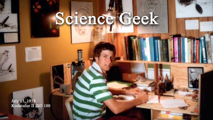 Robert Berdan science geek in garage laboratory