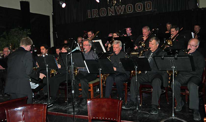 Robert Berdfan in West winds Bronze Jazz Band at Ironwood in Calgary.