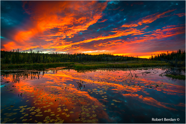 Sunset over small lake along the Ingraham trail by Robert Bedan ©