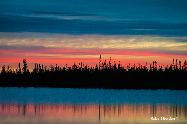 Sunset over boreal forest along the Ingraham trail by Robert Berdan ©